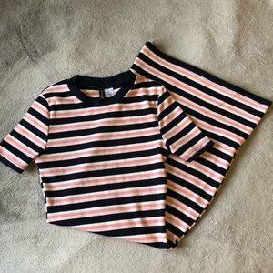 Navy & Pink H&M Bodycon Dress